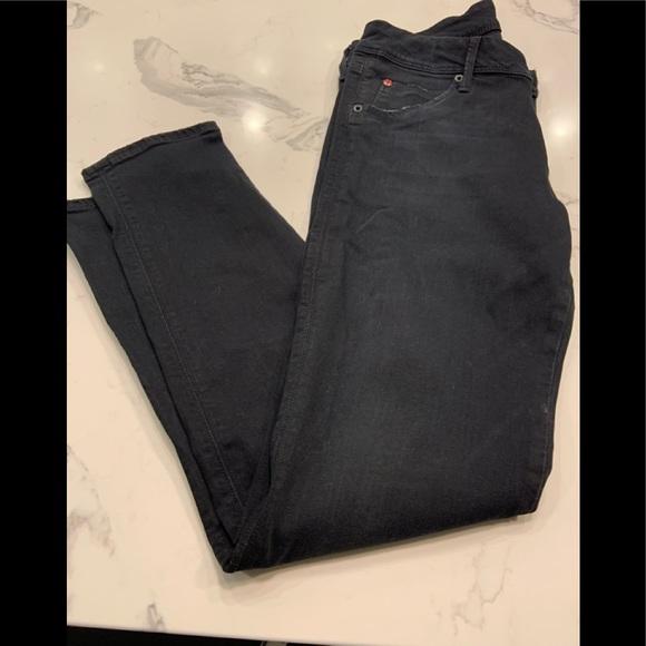 Hudson Jeans Denim - Hudson Black Skinny Flap Back Jeans